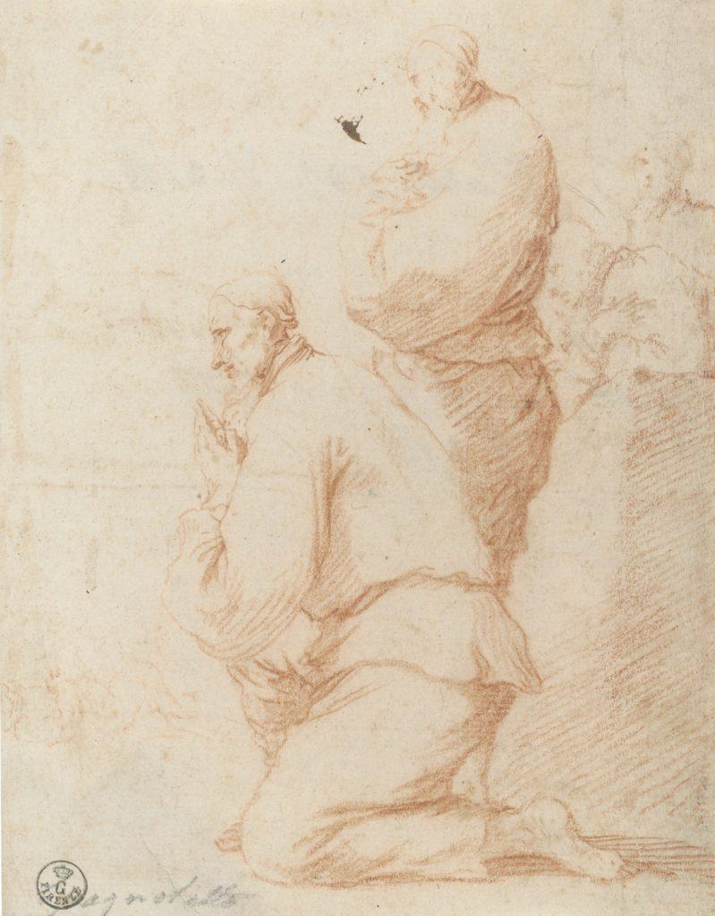 "José de Ribera (Xàtiva, Valencia, 1591-Nápoles, 1652), ""Noli me tangere"", h. 1625, tinta parda a pluma sobre papel verjurado."