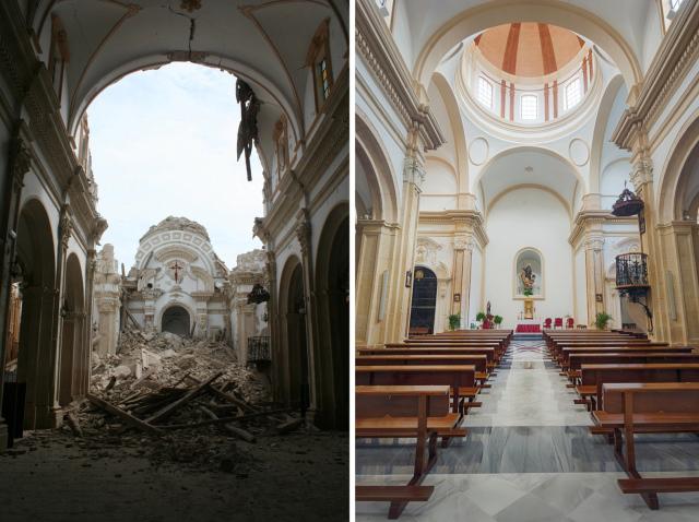 Una de las iglesias restauradas en Lorca (Murcia).