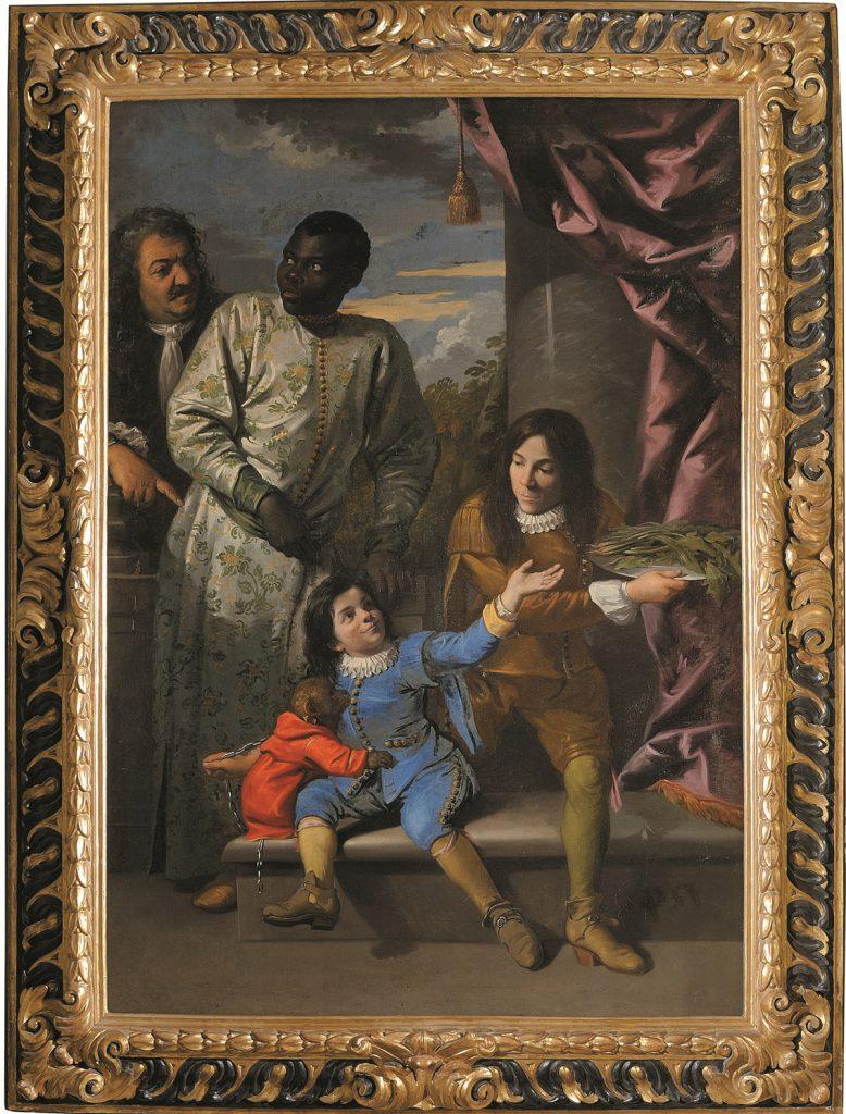 Cuatro servidores de la Corte de los Medici, Anton Domenico Gabbiani, h. 1684, óleo sobre lienzo.