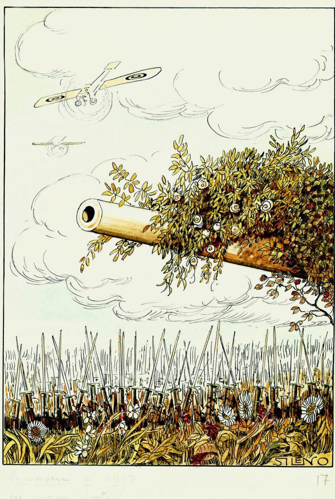 Primavera de 1917. ¡Los nuevos brotes!, Blanco y Negro núm. 1348, 18 de marzo de 1917, acuarela, tinta y guache sobre papel, 345 x 238 mm.