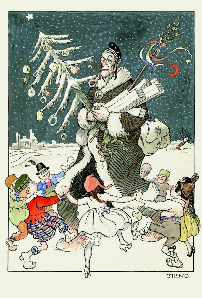 1918. El padre Noel, Blanco y Negro núm. 1441, acuarela, guache y tinta sobre papel, 343 x 240 mm.