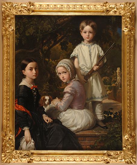 Luisa, Rosa y Raimundo de Madrazo Garreta, hijos del pintor, por Federico de Madrazo y Kuntz, 1845.