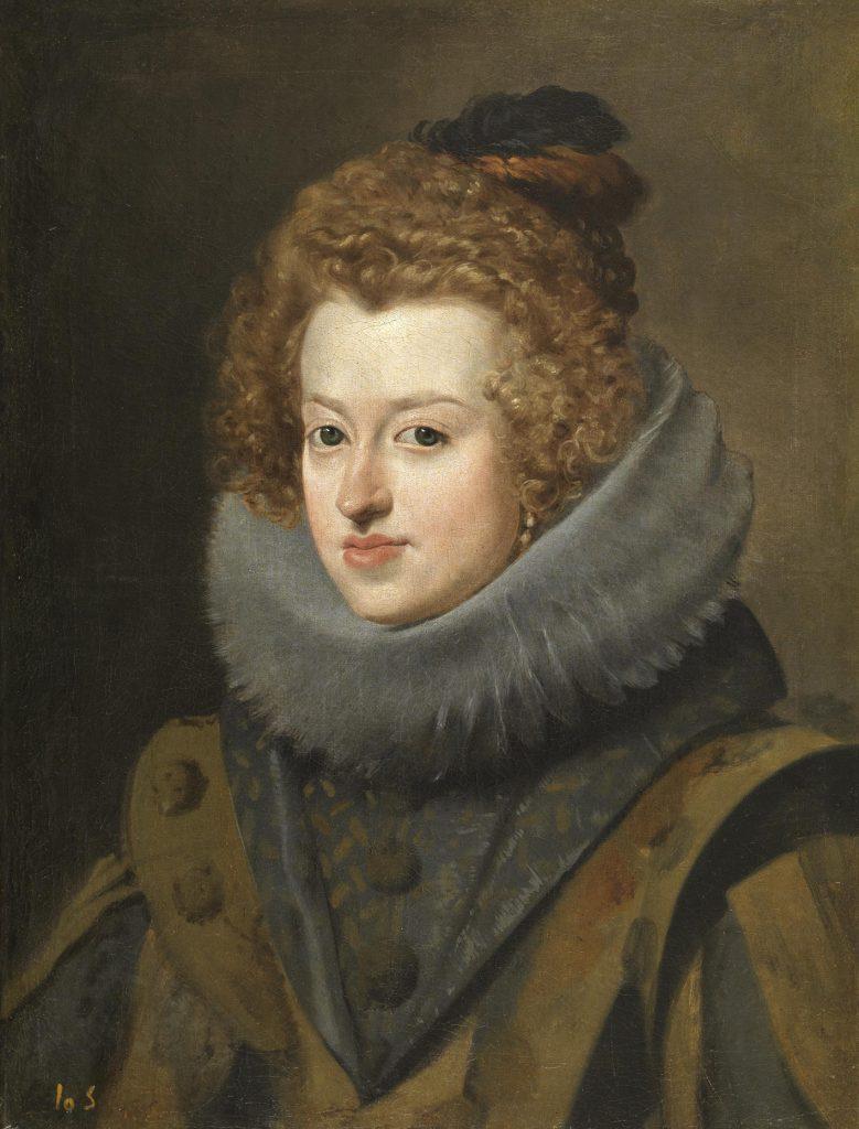 Doña María de Austria, reina de Hungría, de Velázquez, h. 1630, óleo sobre lienzo, 59,5 x 44,5 cm, Madrid, Museo del Prado.