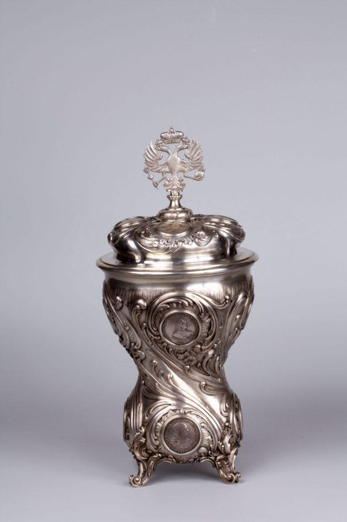 Julius A. Rappoport, copa-premio 1898, realizada por Carl Fabergé en plata.