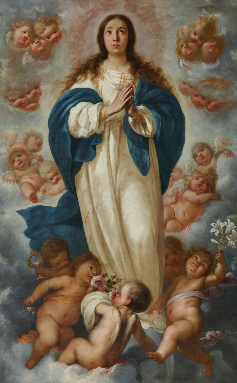 Inmaculada Concepción, por Francisco de Herrera el Mozo, h. 1670, óleo sobre lienzo, 165 x 105 cm. Donación Plácido Arango Arias, 2016.