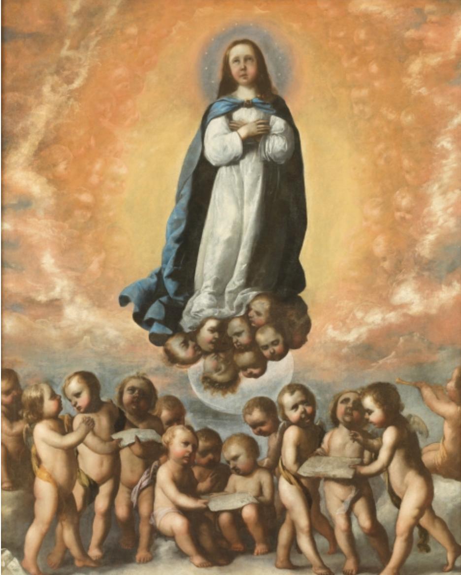 Inmaculada Niña, por Francisco de Zurbarán, 1656, óleo sobre lienzo, 194,3 x 157 cm. Donación Plácido Arango Arias, 2015.