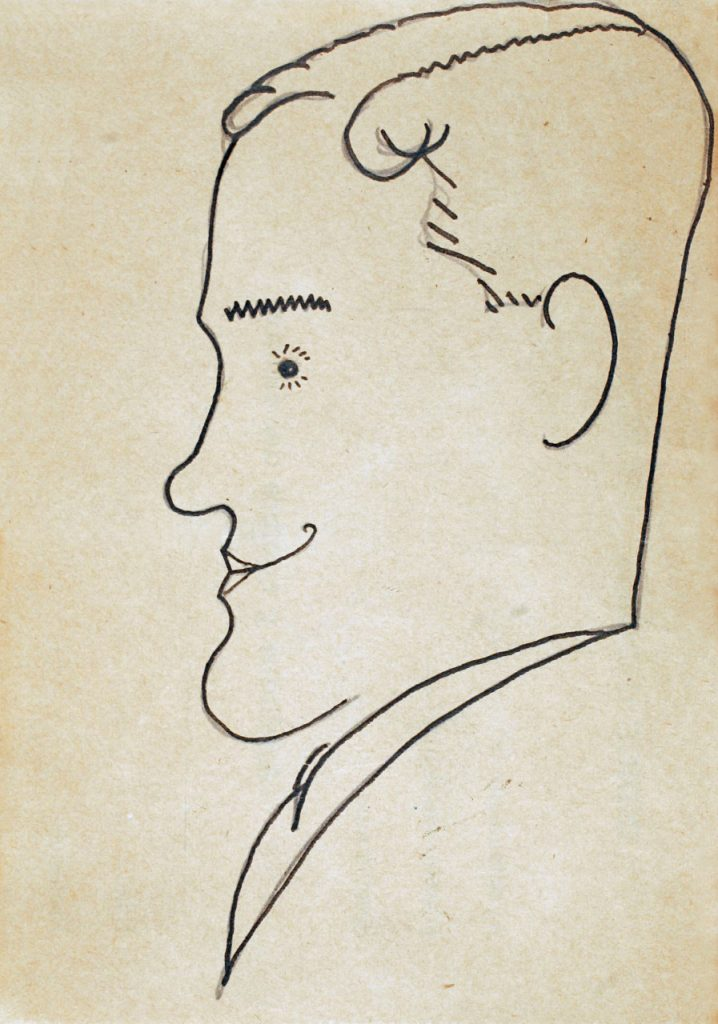 Caricatura de Sánchez Cantón.