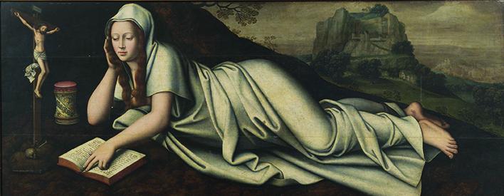 """""""La Magdalena"""", por Marcellus Coffermans, 1568, óleo sobre tabla, 80x200cm."""
