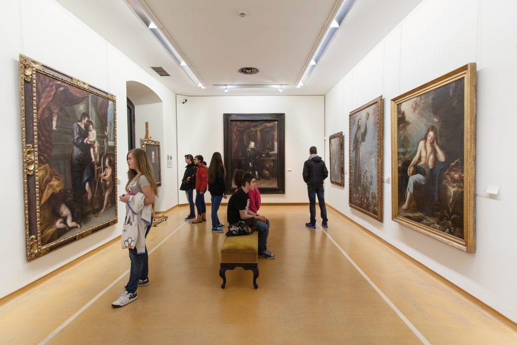 Una de las salas del Museo de Bellas Artes de Asturias, Oviedo.