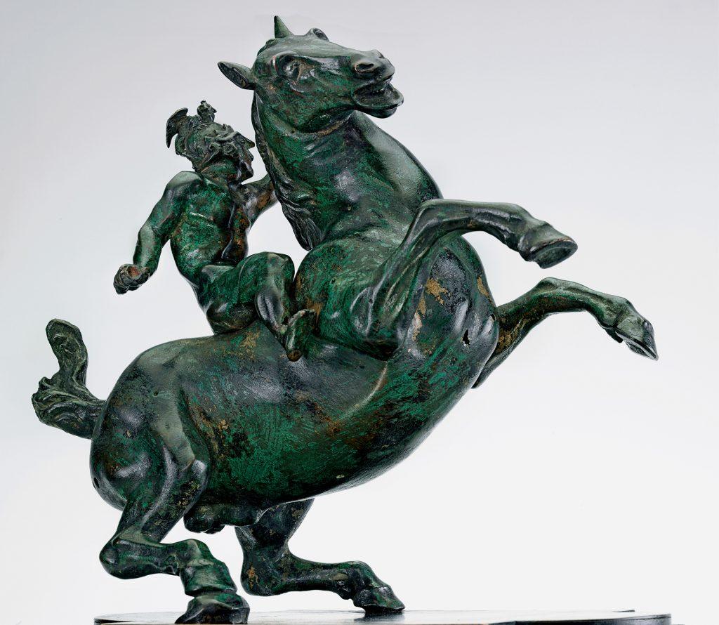 Guerrero a caballo, de Leonardo da Vinci, bronce, 24,3 cm, Budapest, Szepmüveszeti Muzeum © Szepmüveszeti Múzeum / Museum of Fine Arts Budapest.