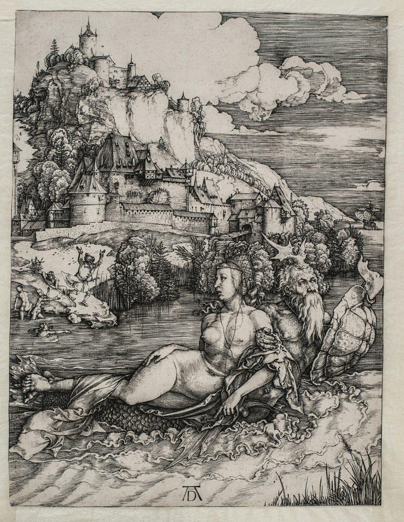 Il mostro marino, de Alberto Durero, h. 1498, buril, 24,8 x 18,6 cm, VIena, Akademie der bildenden Künste, Kupferstichkabinett