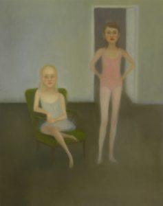 Memoires d'une jeune fille rangée, por Chechu Álava, 2010, óleo sobre tela. Colección DKV.