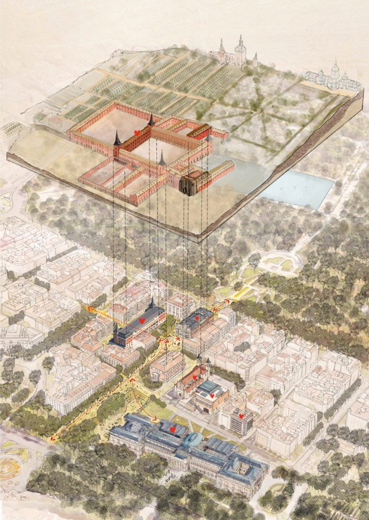 Estrategia urbana e integración del Salón de Reinos en el campus Prado.