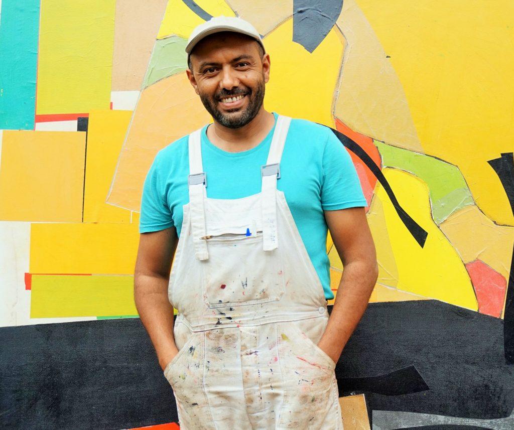 El artista invitado, Khalid El Bekay.