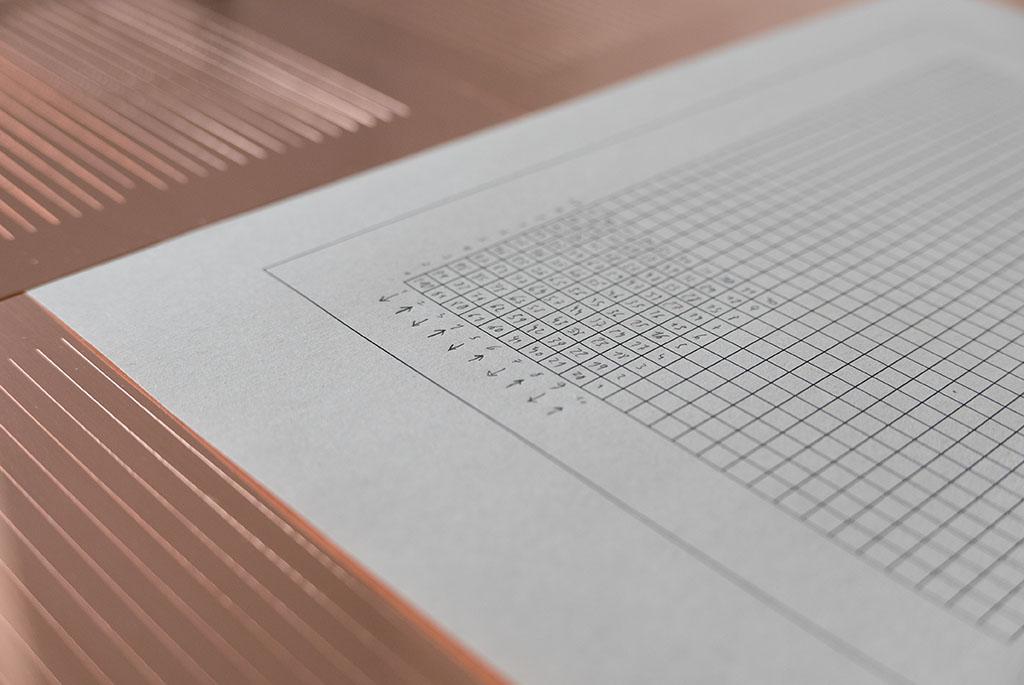 Intervallum (Estudio), por Manu Blázquez, 2016, punta seca sobre cobre, 165 x 225 cm. Colección DKV.