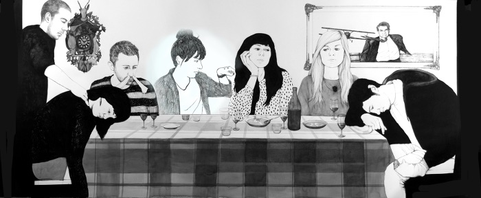 The First Dinner, por por Rosana Antolí, dibujo, 2012, Colección DKV.