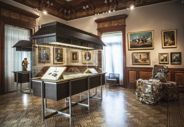 Vista de la sala 14 del Museo Lázaro Galdiano con varias obras de la Colección DKV Seguros © Tofiño.