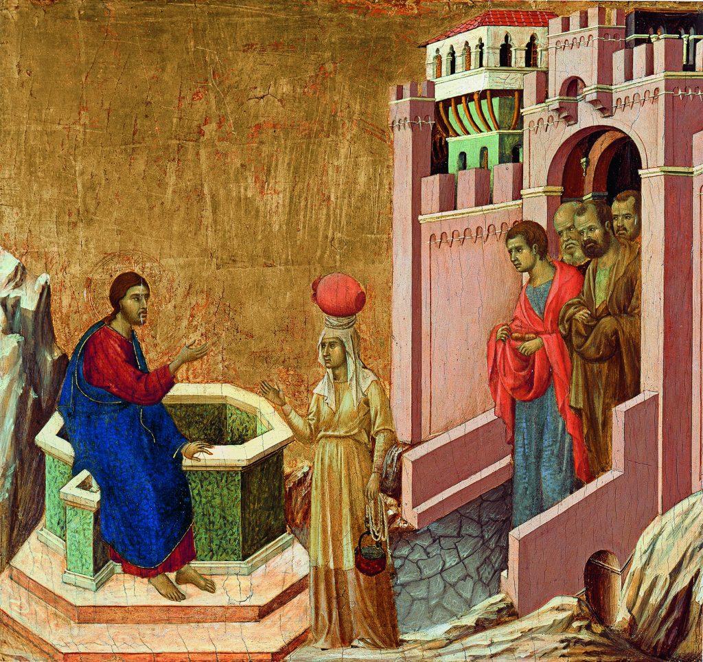 DUCCIO DI BUONINSEGNA_Cristo y la Samaritana_133 (1971.7)