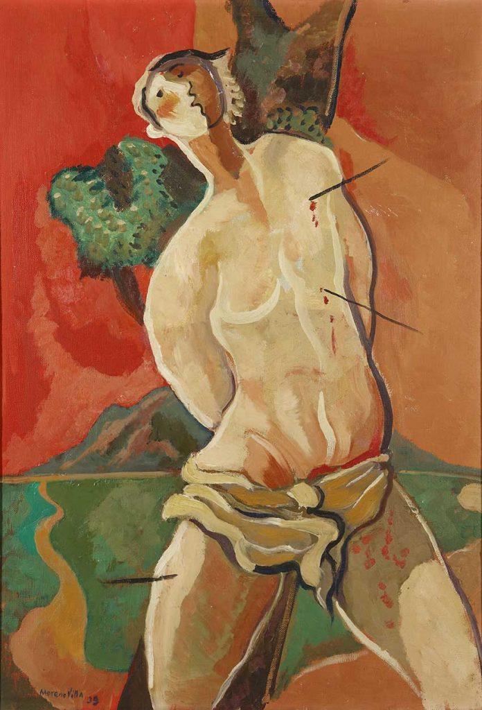 """""""San Sebastián"""", por José Moreno Villa, 1939., óleo sobre lienzo, 66 x 46 cm, colección particular."""