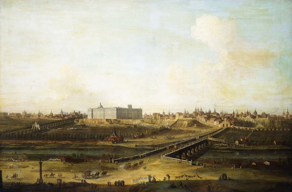 ********: Joli, Antonio (1700-1777). Madrid and the Palacio Real from the West Bank of the Manzanares. 1752-53 London Private Coll. *** Permission for usage must be provided in writing from Scala.