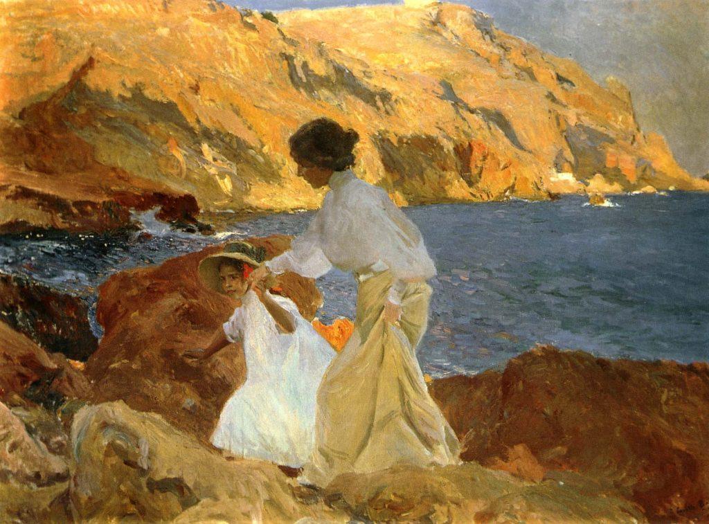 Clotilde y Elena en las rocas. Jávea, 1905, colección particular.