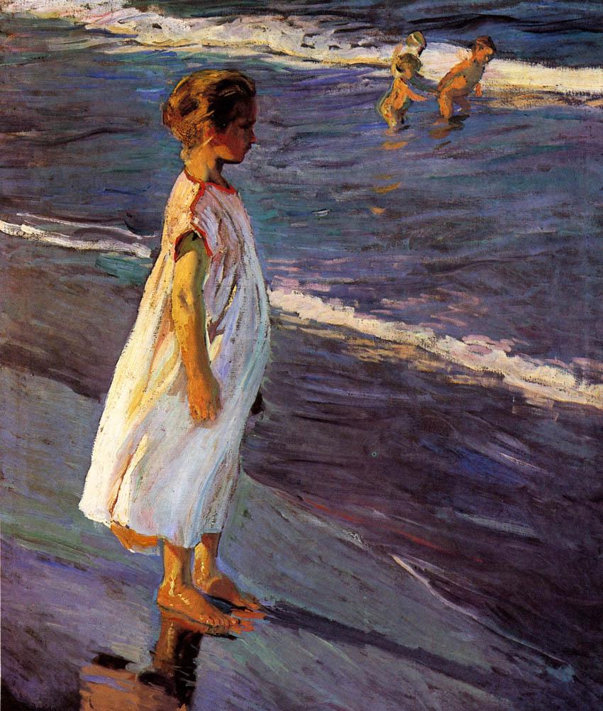 Niña, estudio para verano, 1904, Museo Nacional de Bellas Artes de La Habana.