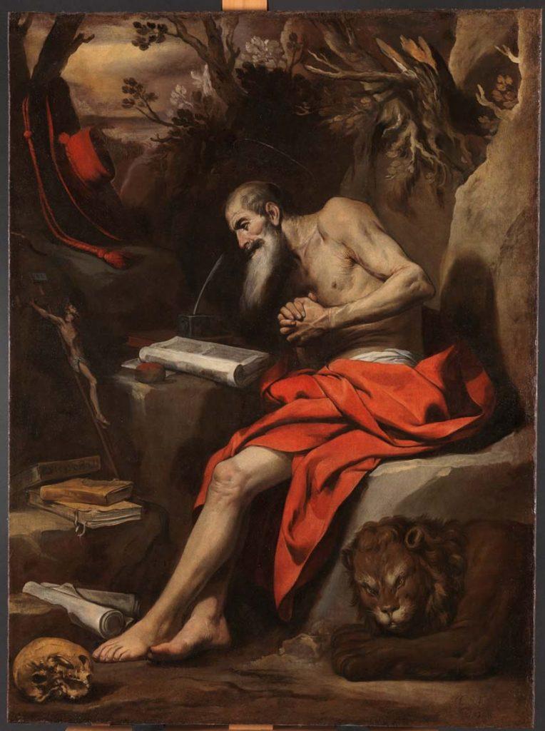 Sobre estas líneas, San Jerónimo, Madrid, Museo del Prado. Arriba, José explica los sueños del faraón, Madrid, Museo del Prado.