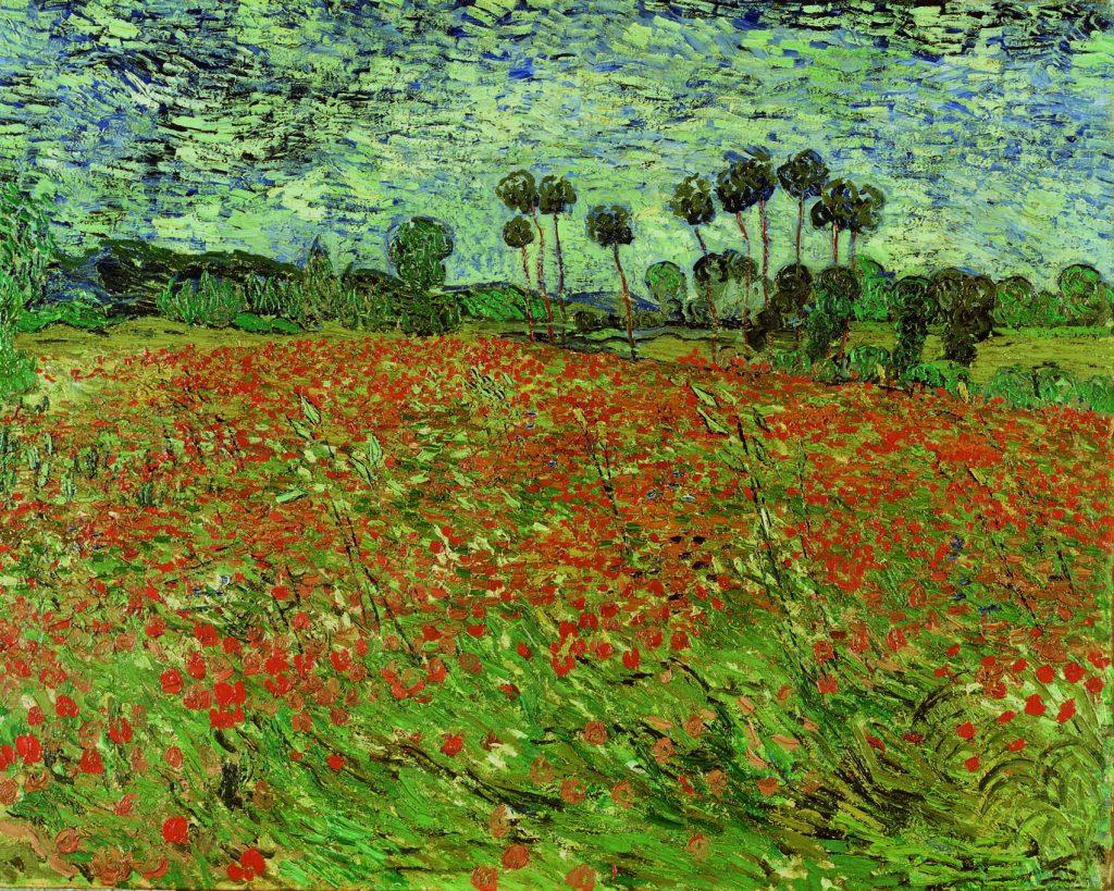 Papaverveld, de Van Gogh.