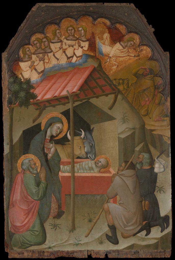 Adoración de los pastores, de Bartolo di Fredi, h. 1374, óleo sobre tabla, Nueva York, Metropolitan Museum of Art.
