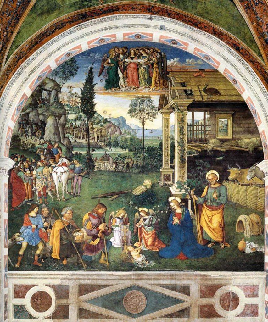 Adoración de los pastores, de Pinturicchio.