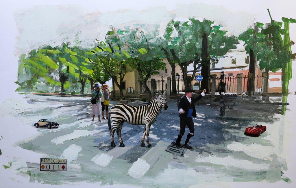 Sobre estas líneas y arriba dos obras de 20 Proyectos específicosEl Escorial-Berlín, de Juan Ugalde (Bilbao, 1958), un artista que vive y trabaja entre El Escorial (Madrid) y Berlín.