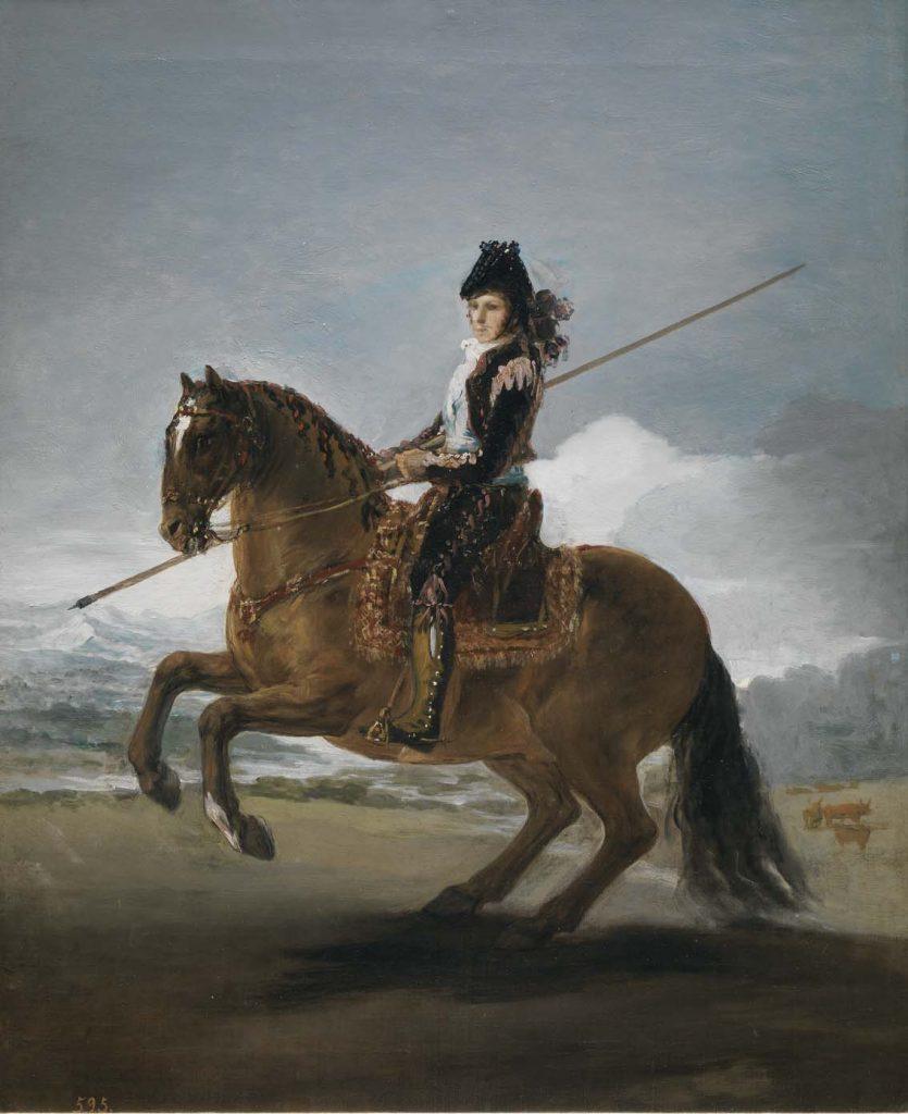 El garrochista, de Francisco de Goya y Lucientes, h. 1795, óleo sobre lienzo, 57 x 47 cm, Madrid, Museo del Prado.