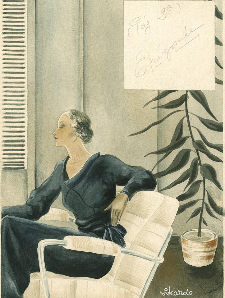 Rikardo. Siluetas elegantes (1932). ©Museo ABC