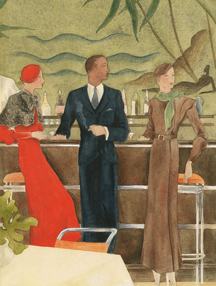Rikardo.Terminando el aperitivo, (1933). ©Museo ABC