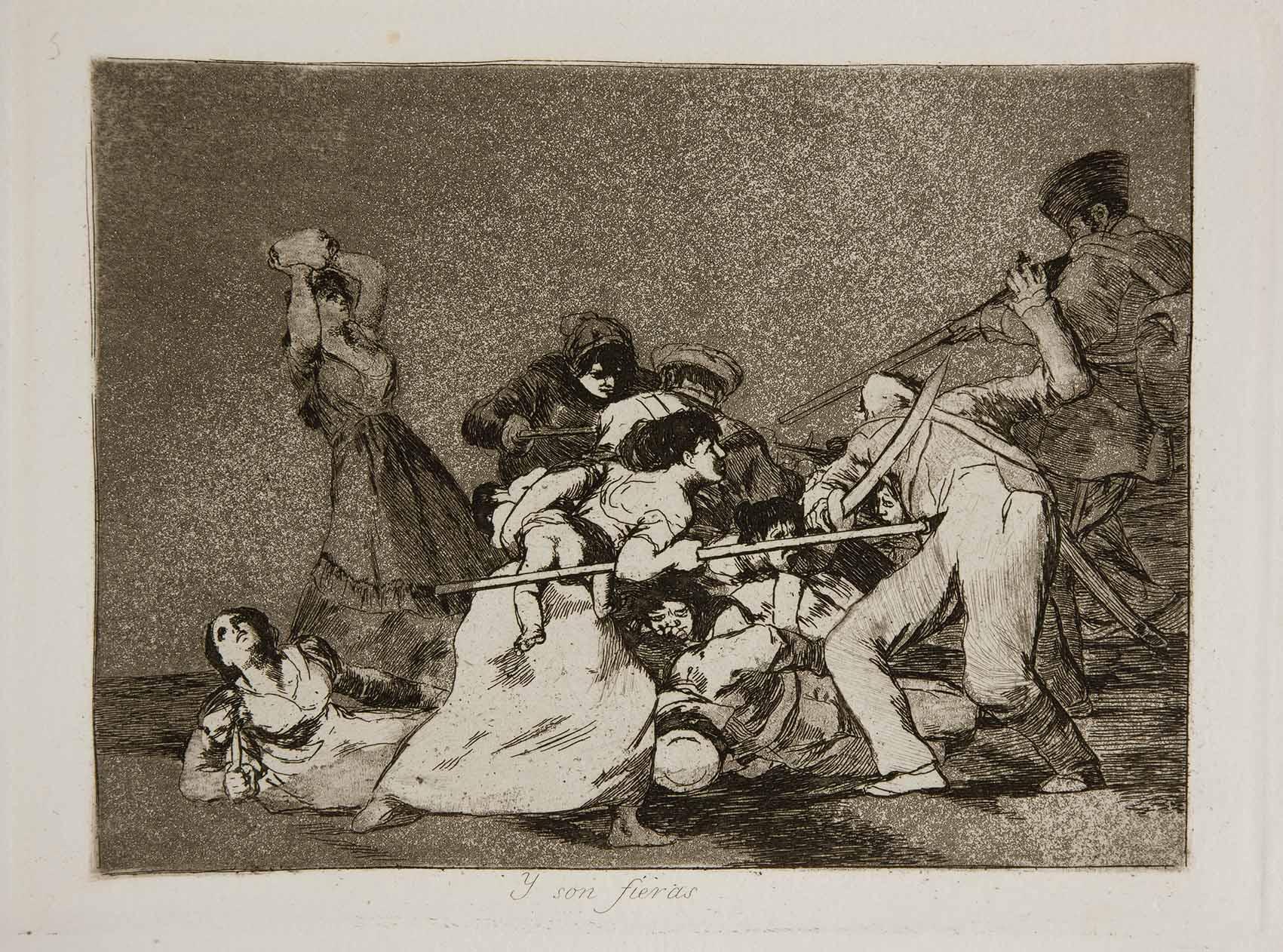 Goya: la angustiosa mirada de un trágico 2 de mayo Artes & contextos Prado Los Desastres de la Guerra No. 05 Y son fieras