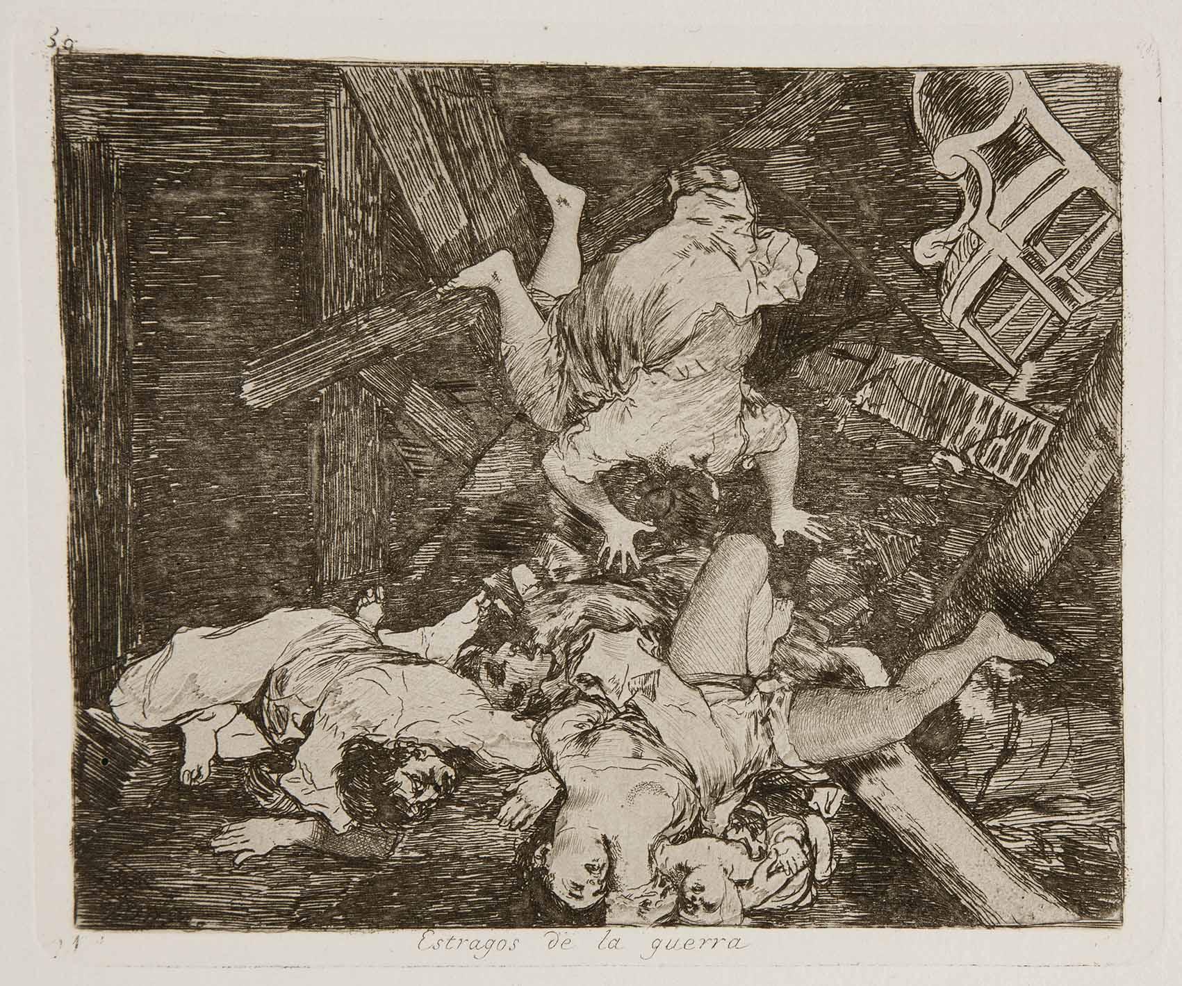 Goya: la angustiosa mirada de un trágico 2 de mayo Artes & contextos Prado Los Desastres de la Guerra No. 30 Estragos de la guerra