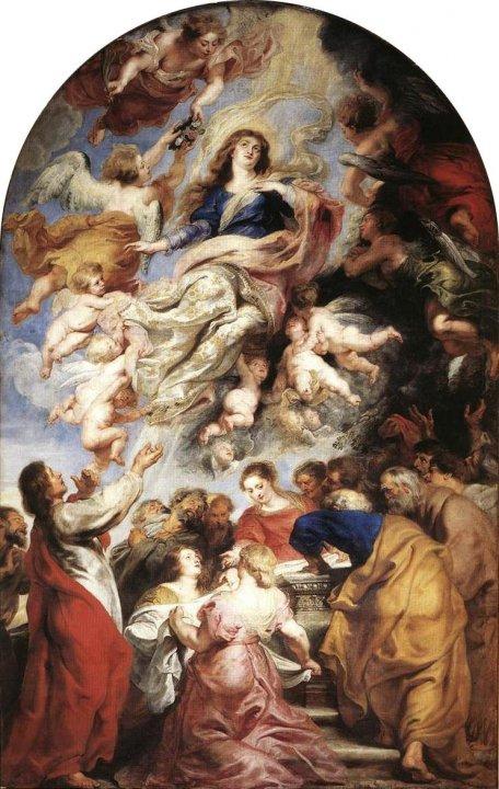 Ascensión de la Virgen María, Rubens.
