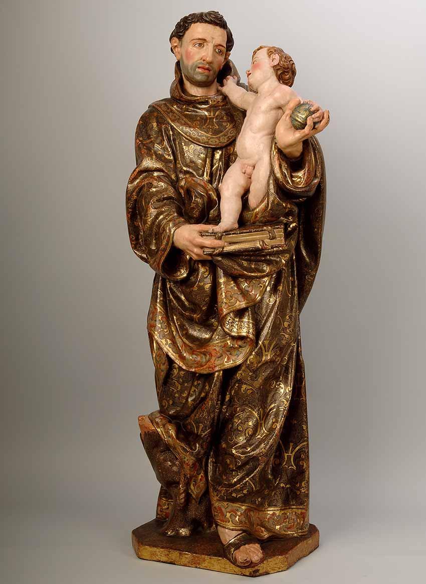 Un diálogo entre escultura y pintura Artes & contextos San Antonio de Padua con el Ni%C3%B1o baja