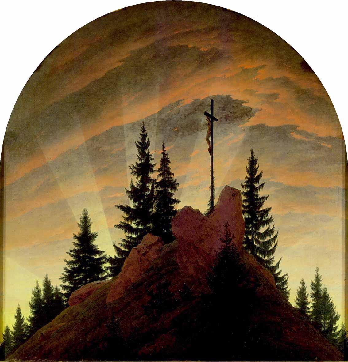 Caspar David Friedrich: paisajes alegóricos Artes & contextos Caspar David Friedrich   Das Kreuz im Gebirge