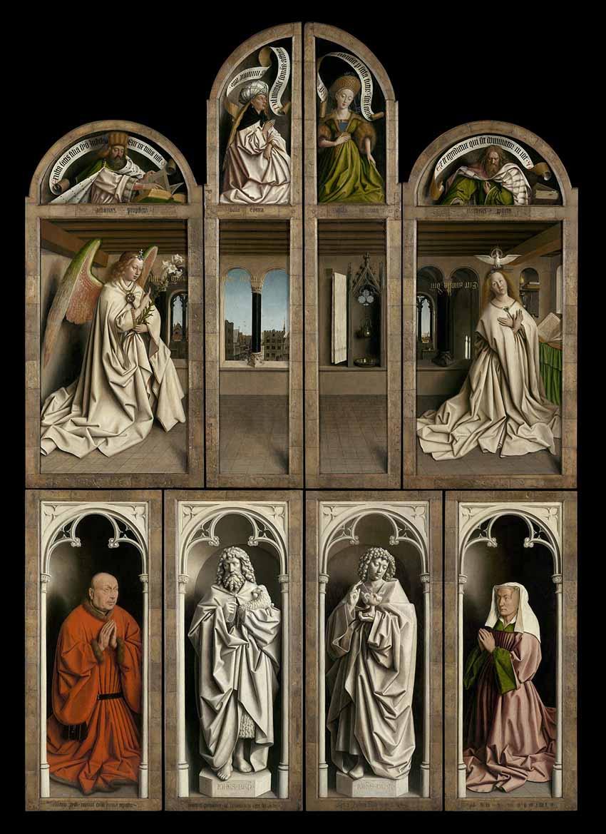 Gante celebra em 2020 o ano Jan van Eyck (extendido até à Primavera de 2021) Artes & contextos 01 De Aanbidding van het Lam Gods1