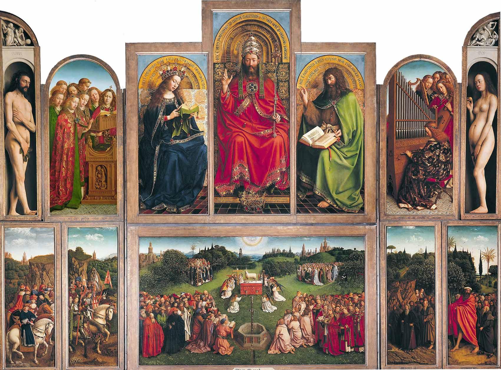 Gante celebra em 2020 o ano Jan van Eyck (extendido até à Primavera de 2021) Artes & contextos Retable de lAgneau mystique