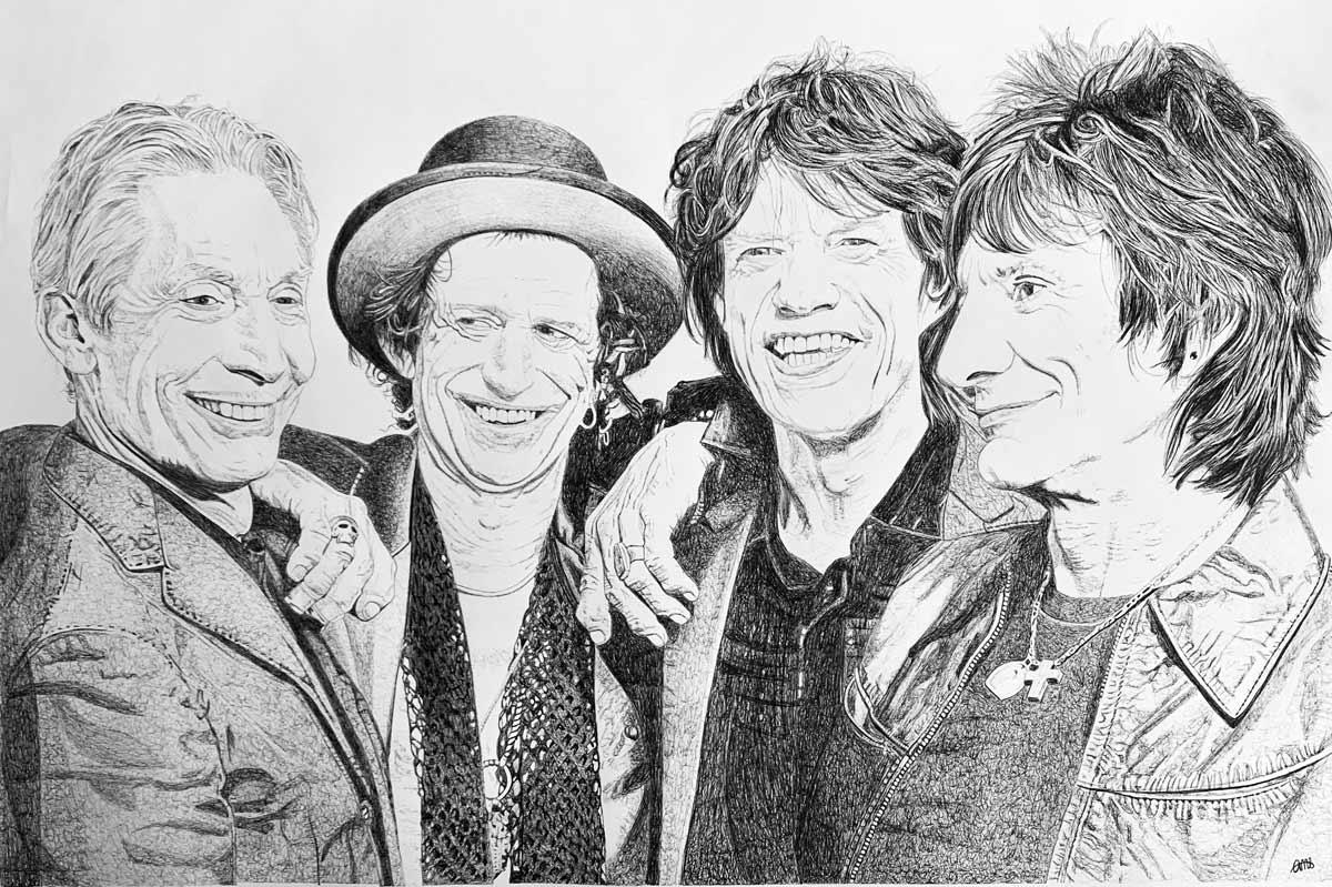 De izquierda a derecha, Charlie Watts, Keith Richards, Mick Jagger y Ron Wood.
