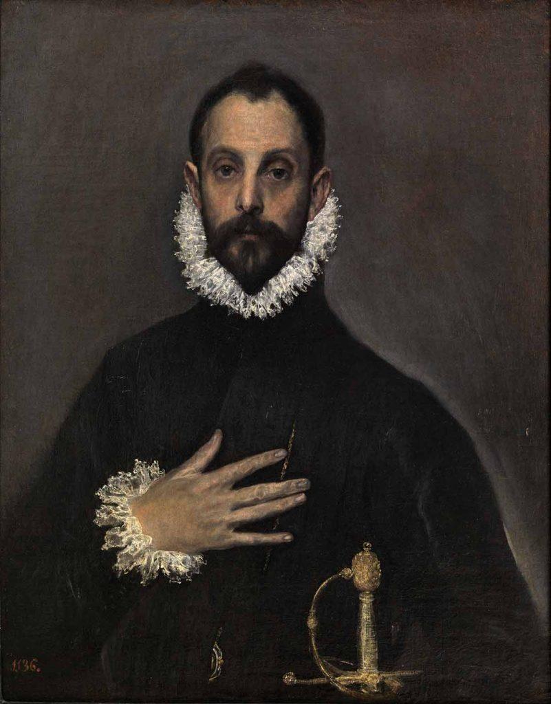 Modigliani: El Greco das Vanguardas Artes & contextos El caballero de la mano en el pecho