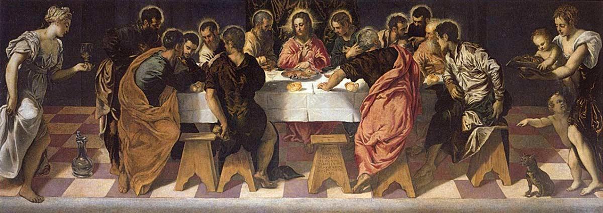 Tintoretto, o pintor de Veneza Artes & contextos 6 La Última Cena Iglesia de San Marcuola Venecia 1547 I