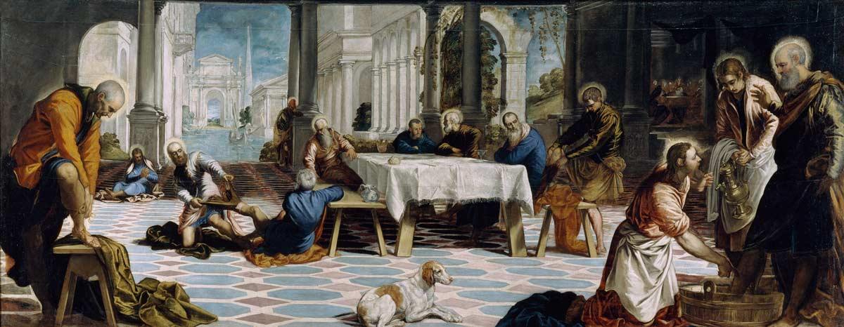 Tintoretto, o pintor de Veneza Artes & contextos El Lavatorio Tintoretto 1