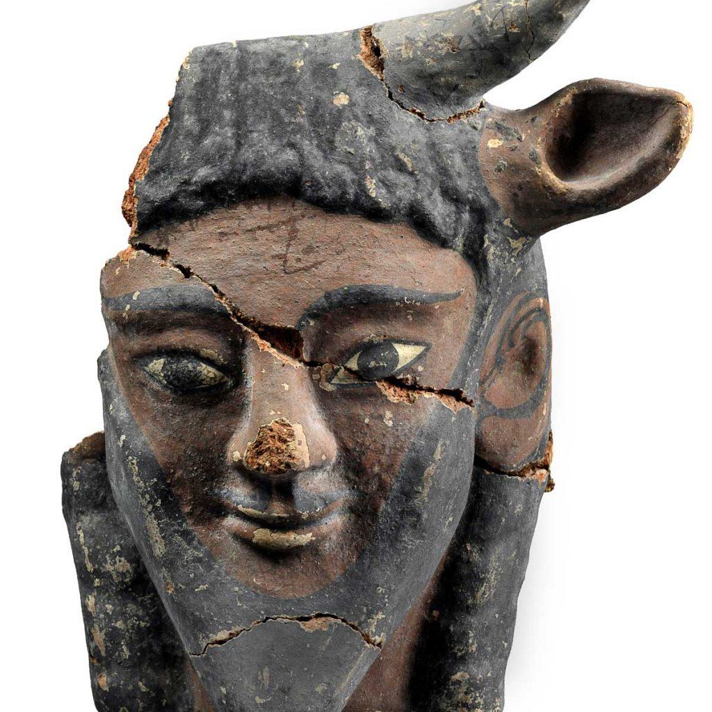 Uma Viagem ao Epicentro do Universo Etrusco Artes & contextos 10.Antefissa configurata a testa di Acheloo  Cerveteri Santuario in località Vigna Parrocchiale 530 520AC