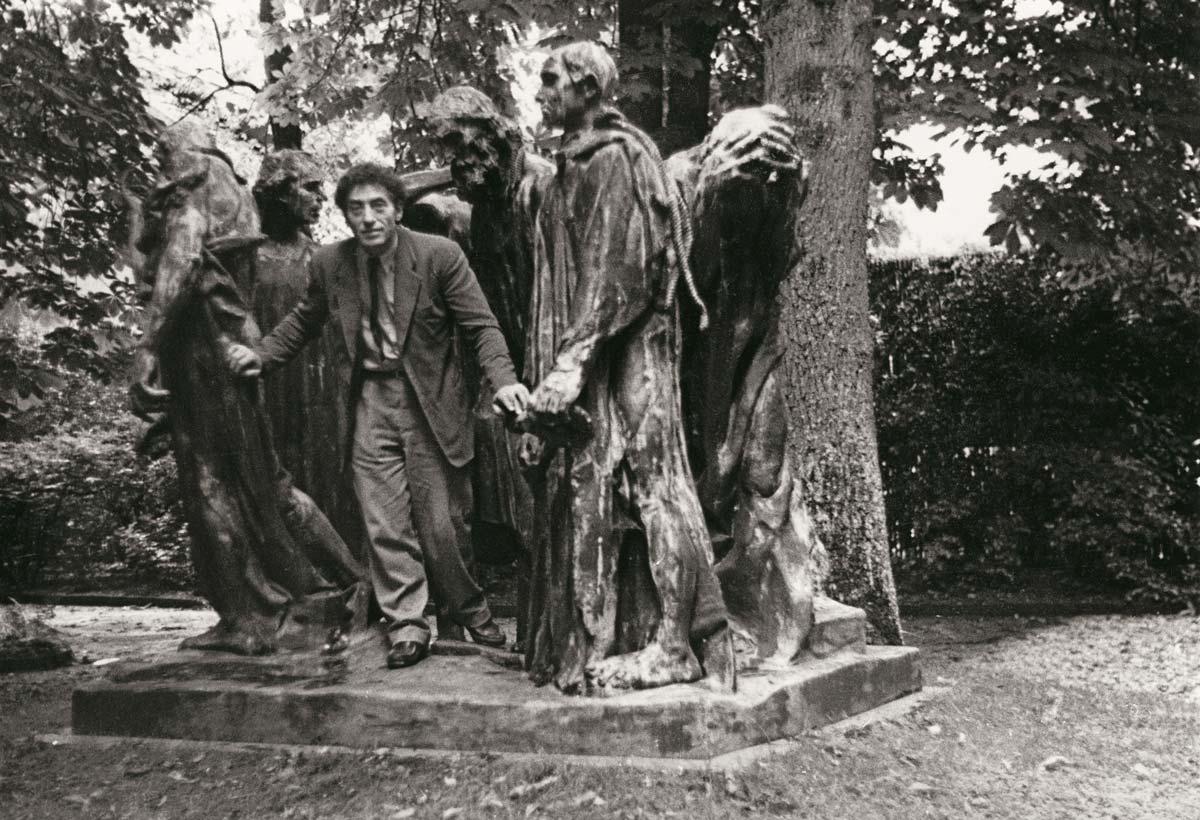 Rodin - Giacometti, Duelo de Titãs Artes & contextos Alberto Giacometti en el parque de Eugène Rudier en Vésinet