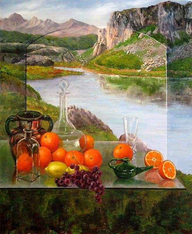 María Pilar Anarte, Paisagens de uma vida Artes & contextos Composición con naranjas ok