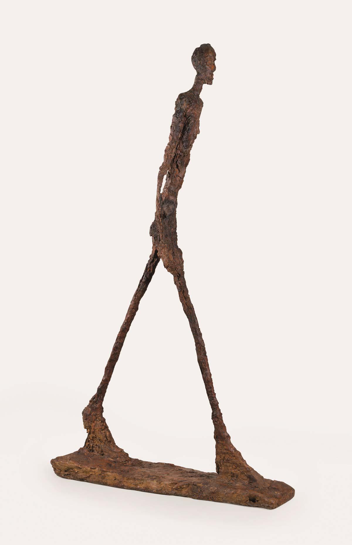 Rodin - Giacometti, Duelo de Titãs Artes & contextos Hombre que camina II 1960