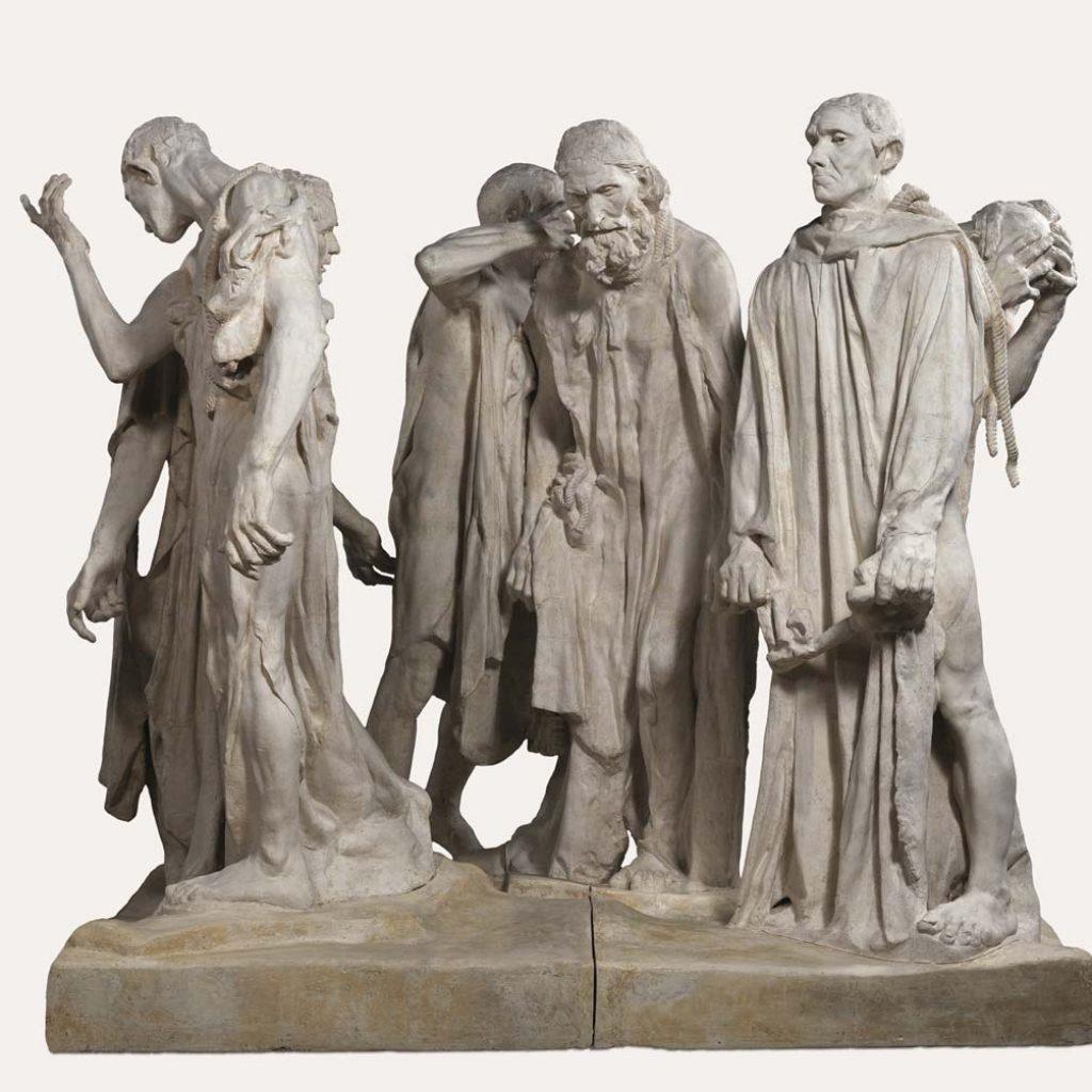 Rodin - Giacometti, Duelo de Titãs Artes & contextos Monumento a los Burgueses de Calais